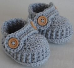 Silver Grey baby shoes crochet baby loafers by Kristineslittleshop