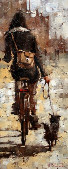 """The City Gal Giclee 24"""" x 10"""" Limited Edition Print http://www.andrekohnfineart.com/"""