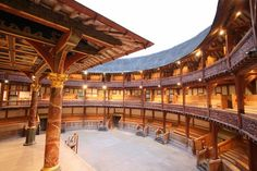 This is the theater that Shakespeare preformed most of his  plays. It was started to be  built in 1597. This was built specifically for Shakespeare. This is not what it would have look like exactly, but close.