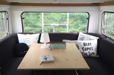 Has your couch in your caravan seen better days? Saggy cushions are to blame, probably. You don't need to rush for a brand new couch. Your caravan, and the couch, will never be the same. Camping Hacks, Camping Life, Happy Campers, Camper Furniture, Caravan Makeover, Vintage Caravans, Van Life, Motorhome, Glamping