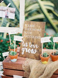 Succulent Escort Cards and Wedding Favors | Brides.com