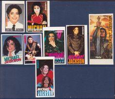 MICHAEL JACKSON USA MUSIC 8 RARE BRAVO SMALL VINTAGE OLD STICKERS R17149