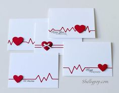 Card: Heartbeat Cards (heart diecuts, CAS)