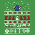 Doctor Who Ugly Christmas + Card by rydiachacha