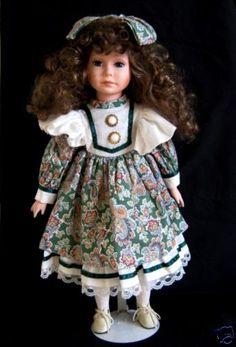 "World Bazaars 18"" Victorian Porcelain Doll | eBay"