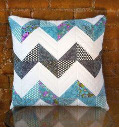 Chevron Pillow, half square triangles.