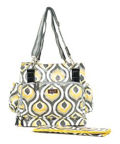Yellow Peacock Diaper Bag by Baya