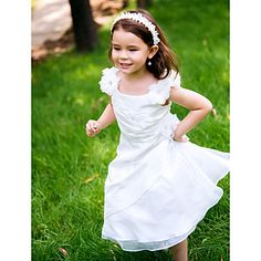 Flower Girl Dress Longueur cheville Polyester A-line Robe – EUR € 44.99