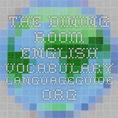 The Dining Room - English Vocabulary - IWB activity.
