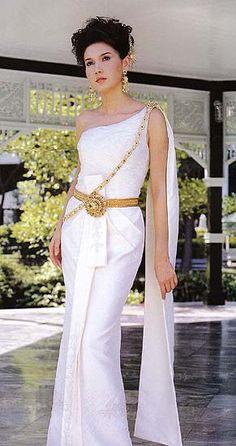 Thai dress  Khmer outfits  Pinterest  Beautiful Wedding and Brides
