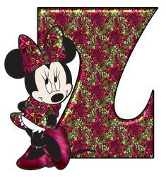 Abecedario de Minnie para Navidad. Minnie Abc for Christmas. Minnie Mouse, Hijab Drawing, What's Your Style, Alphabet And Numbers, Disney Characters, Fictional Characters, Fonts, Letters, Template