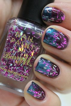 Firework nails..... love this polish! Especially with the blue base coat!