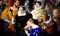 """Execution of Mary Queen of Scots - Maria Stuarda""  (detail) by Italian artist Francesco Hayez 1791-1881"