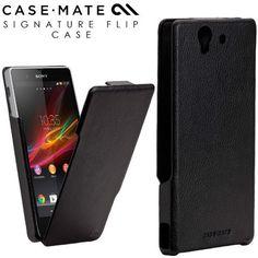 Case-Mate Signature Flip Case for Sony Xperia Z - Black - GadgetWear  - 1