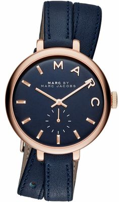 Women's Marc Jacobs Sally Double Wrap Blue Watch MBM8662