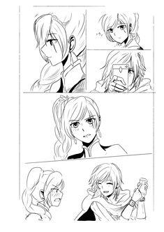 "ayaarose: "" Part 2 👀 "" huhuhu Rwby Anime, Rwby Fanart, Anime Girlxgirl, Yuri Anime, Anime Kiss, Rwby Characters, Fictional Characters, Ymir And Christa, Rwby White Rose"