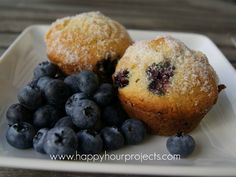 Blueberry-Lemon Muffins from happy hour projects!