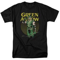 Green Arrow Pull T-Shirt DC Comics Sizes S-3X NEW