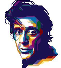 Great digital portrait of Al Pacino.