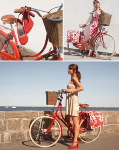 How could you not be in a good mood riding this red Danneborg bicycle?