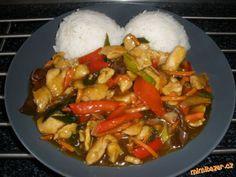 Kuřecí se zeleninou a omáčkou