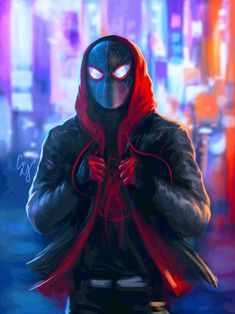 Gurbanton Spiderman Into The Spider Verse Hoodie Miles Morales Costume Sweatshirt for Halloween Holiday Marvel Comics, Hero Marvel, Marvel Comic Universe, Marvel Fan Art, Marvel Dc, Ultimate Spider Man, Spiderman Kunst, Spiderman Spider, Spiderman Marvel