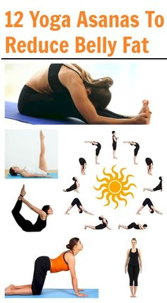 12 Yoga Asanas To Reduce Belly Fat. / We love our yoga! This is great for doing in the home, when it's too icky to go outside for a workout. Qigong, Reduce Belly Fat, Lose Belly, Fat Belly, Easy Workouts, At Home Workouts, Yoga Workouts, Yoga Fitness, Fitness Tips