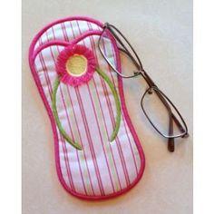 In The Hoop :: Women's Accessories :: Flip Flop Eyeglass Case - Embroidery Garden In the Hoop Machine Embroidery Designs