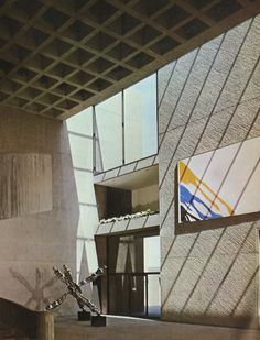 Pei & Partners, Everson Museum of Art, Syracuse, New York, New York Architecture, Futuristic Architecture, Everson Museum, Syracuse New York, Arch Interior, Concrete Structure, Brutalist, Art Museum, Mid-century Modern
