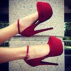 True To Platform Ankle Strap Heels