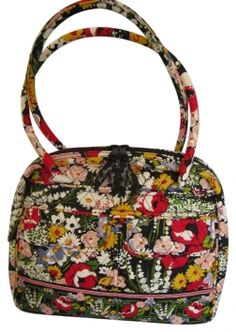 **SOLD** Now Just $27 ~ Vera Bradley Poppy Fields Bowler Style Black Floral Bag - Satchel $38