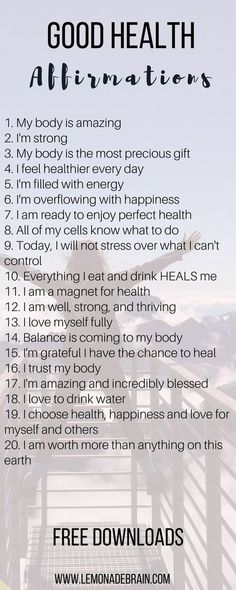 20 affirmations for good health affirmations health body mindbodyspirit mindbody mindbodysoul healthyeating balance happiness healing worthiness empowering 7 healing affirmations for health and wellness Healthy Affirmations, Morning Affirmations, Daily Affirmations, Motivational Affirmations, Stress, Self Love Quotes, Quotes To Live By, Om Mantra, Coaching