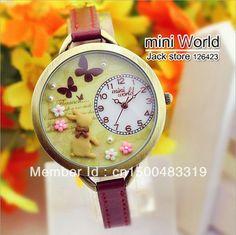 HOT sell040 Korean watch mini world rabbit table polymer clay watch cartoon lady children the hours of mini watches+original box