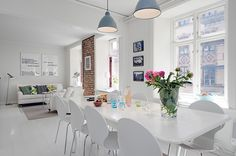 Bright Urban Swedish Two-Storey Apartment in Gothenburg