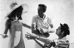 Catherine Deneuve, Gene Kelly et Jacques Demy sur le tournage du film Les demoiselles de Rochefort
