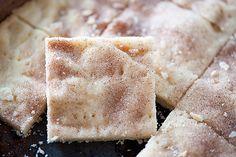 Cinnamon Sugar Shortbread Bars Recipe Desserts with butter, powdered sugar, flour, corn starch, sugar, ground cinnamon