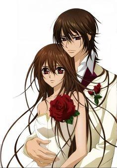 Kaname and Yuki from Vampire Knight :) but Zero...