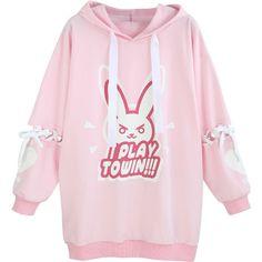 Overwatch Pink Rabbit D.va DVA Lolita Girls Cosplay Casual Hoodie Sweatshirts for sale online Harajuku Fashion, Kawaii Fashion, Fall Fashion Outfits, Cool Outfits, Overwatch Hoodie, Hoodie Sweatshirts, Hoodies, Kawaii Clothes, Sweater Coats
