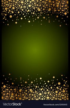 Green frame with gold confetti Royalty Free Vector Image