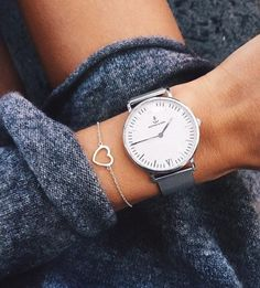 watch, heart, and style image