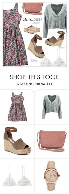 """""""Good Girls"""" by mycherryblossom ❤ liked on Polyvore featuring Steve Madden, TOMS and Burberry"""