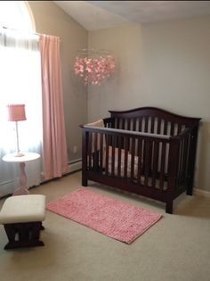 pink baby furniture. pink and gray nursery baby furniture