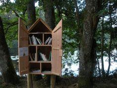 Belle surprise, une « cabane à livres » près de l'étang de Cloix - MON PETIT…