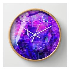 It's Just Not Gonna Happen < The No Series (purple… Wall Clock ($30) ❤ liked on Polyvore featuring home, home decor, clocks, wall clocks, battery operated wall clock, battery powered wall clock, battery wall clocks, purple home decor and battery clock