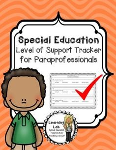 Level of Support Tracker for Paraprofessionals - Special Education