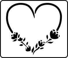 Floral Heart Stencil