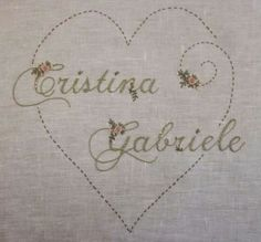 Love this name - Elizabeth Hand Embroidery: layettes Birth and Baptism