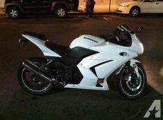 $3,500 2008 Kawasaki Ninja 250 R, Low Miles, White!