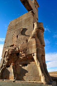 Achaemenid architecture / the Gate of All Nations, century BC,Iran Persia Ancient Near East, Ancient Ruins, Ancient Artifacts, Ancient History, Architecture Antique, Persian Architecture, Cultural Architecture, Shiraz Iran, Statues