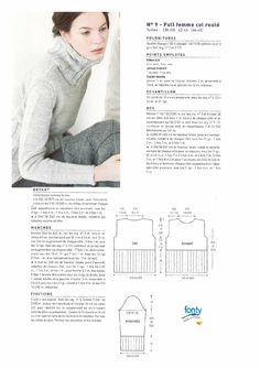 Modele tricot gratuit pull femme col roule alpaga